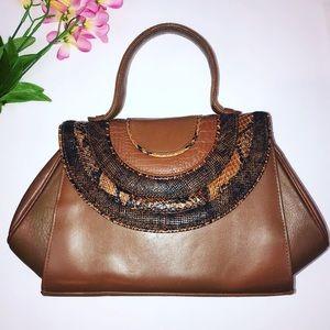 💕HP Vintage Sylvia textured snakeskin retro purse